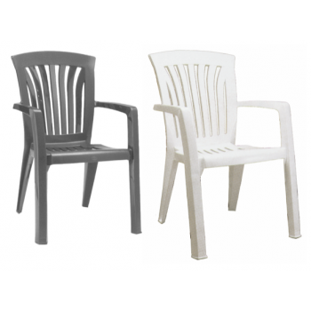 Diana spise stol i plast (stabelbar)