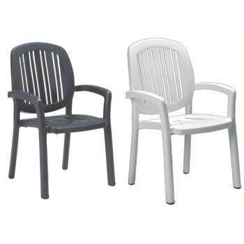 Ponza spise stol i plast (stabelbar)