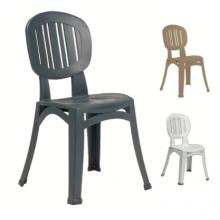 Elba spise stol i plast (stabelbar)